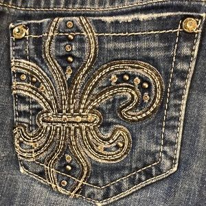 Miss Me Rhinestone blinged out flare boot cut jean